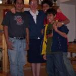 Loving Sister Milena with our 3 sons Mark,Michael and John.