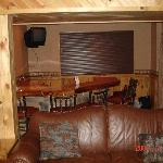 lower level bar and sofa bed