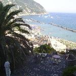 View of the beach from the Castello
