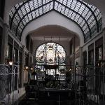 A poor quality shot of the lobby ironwork