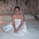 The bride in the Royal Suite