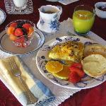 One of Gail's wonderful breakfasts