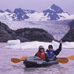 kayaking at Grewingk Glacier