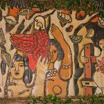 Leget Ceramic Mural in the Garden