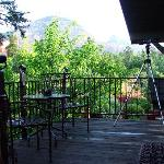View from patio.  Thunder mountain