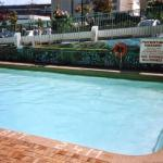 A look at the deep end of the outdoor pool