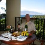 Enjoying an afternoon snack from our balcony - Four Seasons Maui