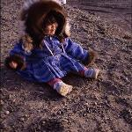 Inupiat girl on the beach at 10:30pm
