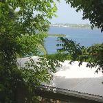 Estate Lindholm: garden level room's deck view 1/2