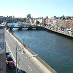 View from our 4th Floor Corner Room of the River Liffey - Guinness Direction