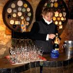 Visiting the champagne winery