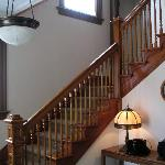 Beautiful banister to upstairs bedrooms