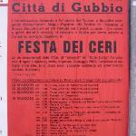 Poster of Festa dei Ceri events