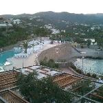 Main pool, and the beach - when there's no wedding