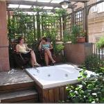 our private terrace and jacuzzi
