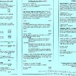 Part of the Menu of the Tulipan Cafe Wooster