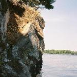 stone-wall at one of the islands