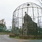 One of the old, elegant cages at the Zoo