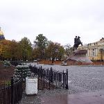 Isaac's Cathedral is just a block and a half away