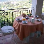 Daily breakfast on our balcony