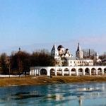 Looking at Yaroslav's court from the bridge