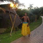 Traditional Fijian warrior