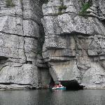 Mohonk Mtn. House - cliffs & paddleboat