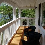 Porch with wicker