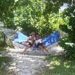 My mom and I on the Beaches hammock