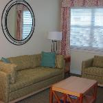 Living Room in the Deluxe 1Br at Harborside