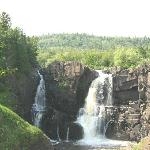 High falls in Grand Portage State Park near Grand Marais