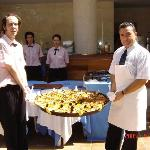 The paella presentation that was held at the hotel.  Excellent and very tasty