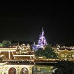 The Disneyland Park at night