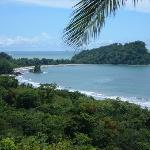 View from the pool of Manuel Antonio park and beach