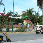 Posada Del Mar, from across the street on the beach--It's behind the adobe fence and the...