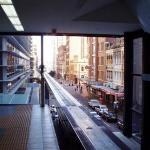 Riding the Monorail over Sydney...