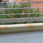 Rust on the balcony