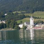 St Wolgang from lake