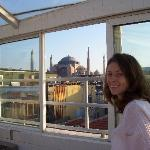 View of Haghia Sophia from roof top terrace.