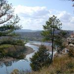 Looking west up the White River from the bluffs of Calico Rock