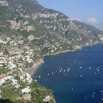 Positano from roadside