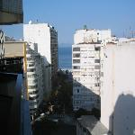 View from the balcony of Ducasse Hotel to Copacabana beach