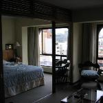 living/bedroom of suite