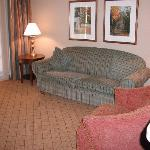 the siting room of the suite