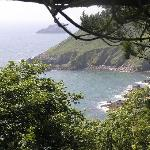 View from coastal path of the sea