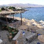 The beach and the beach bar