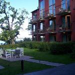 outdoor seating overlooking waterfront