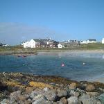The Scarinish Hotel and old harbour