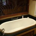 Huge baths you get lost in too!
