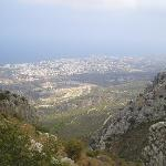 View from St Hilarion Castle, Kyrenia